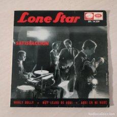 Discos de vinilo: LONE STAR - SATISFACCION / WOOLY BULLY / MUY LEJOS DE AQUI / AQUI EN MI NUBE / EP REGAL 1965 VG++. Lote 230876200