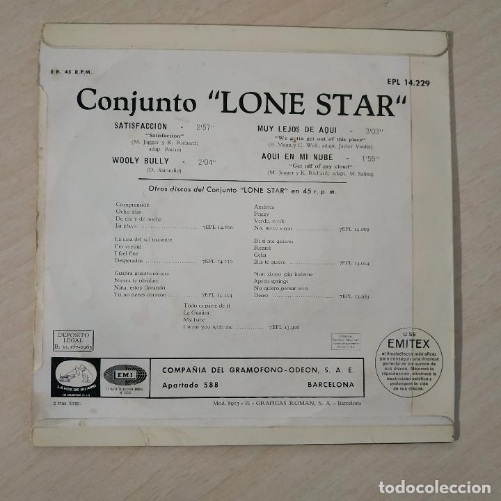 Discos de vinilo: LONE STAR - SATISFACCION / WOOLY BULLY / MUY LEJOS DE AQUI / AQUI EN MI NUBE / EP REGAL 1965 VG++ - Foto 2 - 230876200