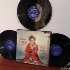 Discos de vinilo: LP MUSICA CLASICA OPERA ALBUM 3 LPS PUCCINI MADAMA BUTTERFLY RENATA TEBALDI TULLIO SERAFIN VG+. Lote 230877535