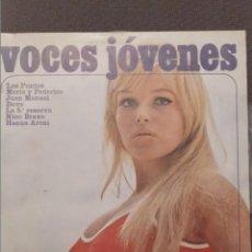 Discos de vinilo: VOCES JOVENES DISCO DE 25 CM 1973: NINO BRAVO,LOS PUNTOS,LA 5ª RESERVA,DOVA,MARIA Y FEDERICO. Lote 230903225