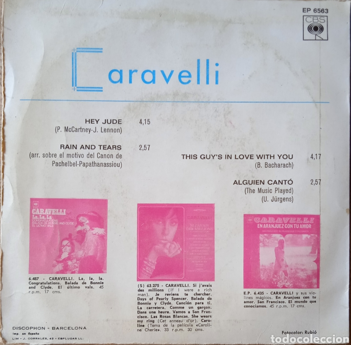 Discos de vinilo: EP Caravelli - Foto 2 - 230912665