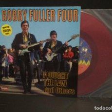 Discos de vinilo: THE BOBBY FULLER FOUR- I FOUGHT THE LAW + 3- SPANISH EP- MUNSTER RECORDS DISCO ROJO - NUEVO PEPETO.. Lote 230927745