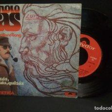 Discos de vinilo: MANOLO GAS & THE TINTO BOND BANG-QUIZAS, QUIZAS, QUIZAS + PATETICA SINGLE 1976 SPAIN PEPETO. Lote 230929400