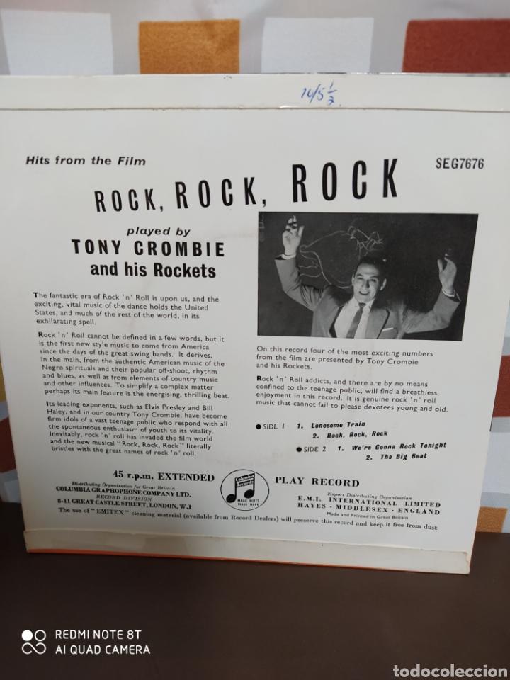Discos de vinilo: Tony Crombie And His Rockets -Hits From The Film Rock, Rock, Rock. Ep original 1957 - Buen estado - Foto 3 - 230960155