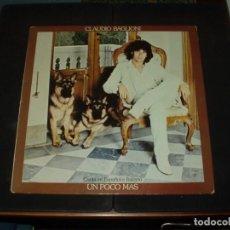 Discos de vinilo: CLAUDIO BAGLIONI LP UN POCO MAS EN ESPAÑOL E ITALIANO. Lote 230969290