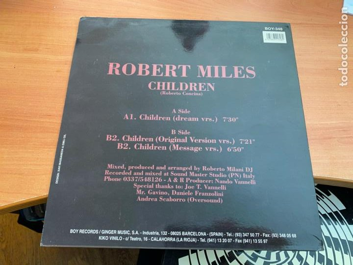 Discos de vinilo: ROBERT MILES (CHILDREN) MAXI 1995 ESPAÑA (B-14) - Foto 3 - 230995450