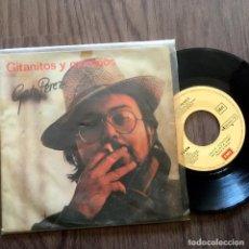 Discos de vinilo: GATO PÉREZ. SINGLE. GITANITOS Y MORENOS. BUEN ESTADO. VER FOTOS. Lote 231000050