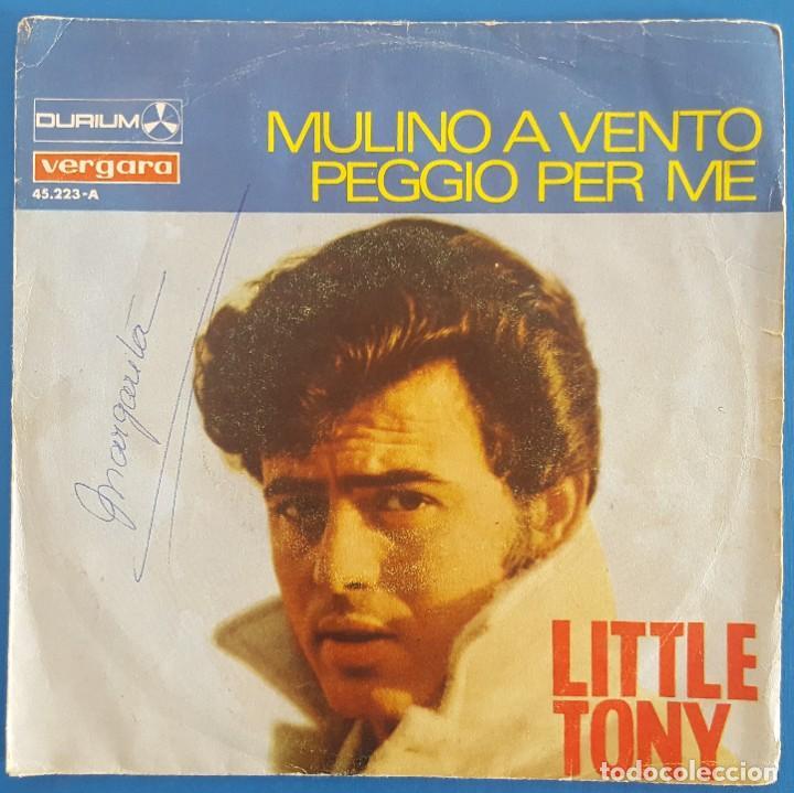 SINGLE / LITTLE TONY / MULINO A VENTO / DURIUM-VERGARA 1967 (Música - Discos - Singles Vinilo - Otros Festivales de la Canción)