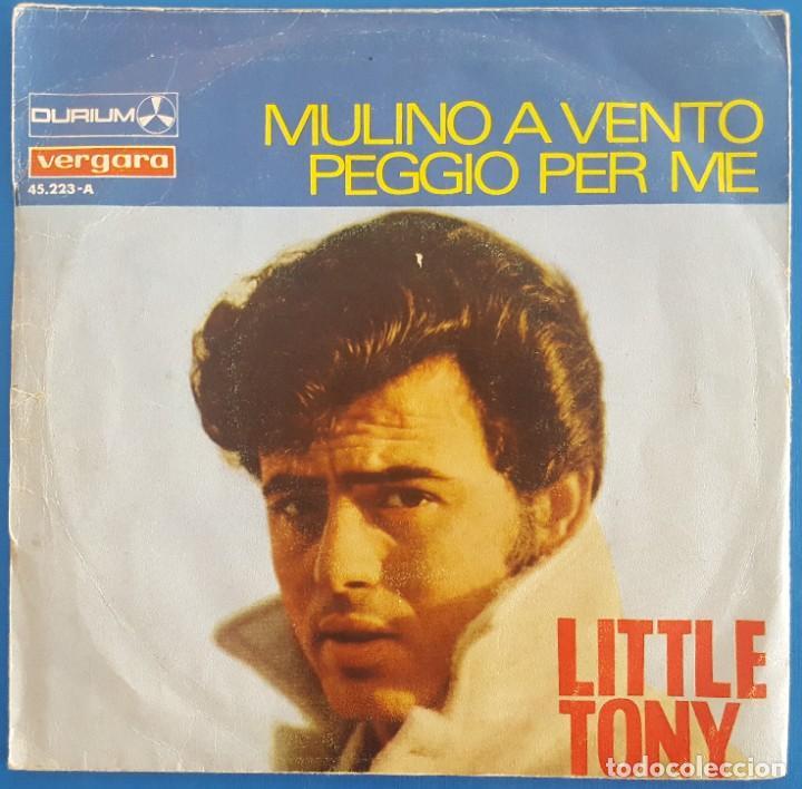 Discos de vinilo: SINGLE / LITTLE TONY / MULINO A VENTO / DURIUM-VERGARA 1967 - Foto 2 - 231009265