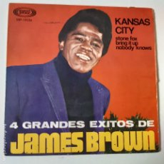Discos de vinilo: JAMES BROWN- KANSAS CITY- SPAIN EP 1967- VINILO EXC. ESTADO.. Lote 231024380