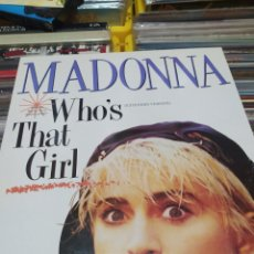 Discos de vinilo: MADONNA WHO'S THAT GIRL MAXISINGLE PROMOCIONAL SPAIN RARO EXC. Lote 228825715