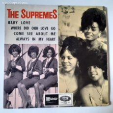 Disques de vinyle: THE SUPREMES- BABY LOVE - SPAIN EP 1964.. Lote 231028205