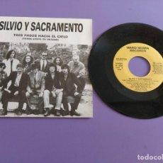 Discos de vinilo: SINGLE PROMOCIONAL.SILVIO Y SACRAMENTO TRES PASOS HACIA EL CIELO (THREE STEPS TO HEAVEN)1 CARA 1990. Lote 231034905