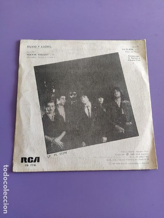 Discos de vinilo: SG.SILVIO Y LUZBEL.ROCKIN´TONIGHT/LA PLAYA( PB 7716 RCA,1980) FDEZ MELGAREJO.BARRALIBRE Y SACRAMENTO - Foto 4 - 231038905