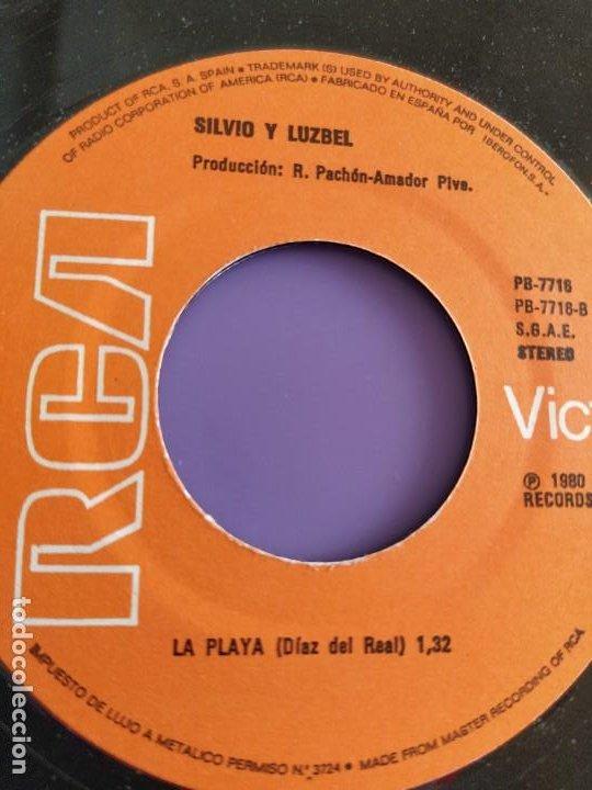 Discos de vinilo: SG.SILVIO Y LUZBEL.ROCKIN´TONIGHT/LA PLAYA( PB 7716 RCA,1980) FDEZ MELGAREJO.BARRALIBRE Y SACRAMENTO - Foto 6 - 231038905