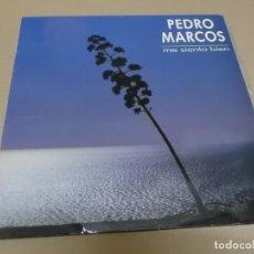 Discos de vinilo: PEDRO MARCOS (MAXI) ME SIENTO BIEN (2 TRACKS) AÑO 1990. Lote 231075785