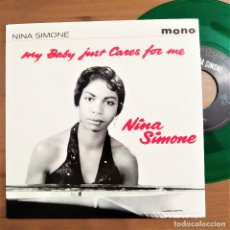 Disques de vinyle: NINA SIMONE, MY BABY JUST CARES FOR ME, I LOVES YOU PORGY, 1919, VINILO VERDE, MONO, NUEVO (M_M). Lote 231145285