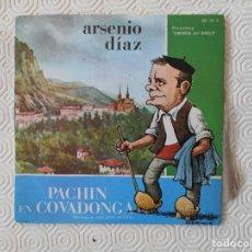 Discos de vinilo: ARSENIO DIAZ. PACHIN EN COVADONGA. MONOLOGO DE JOSE LEON DELESTAL. SINGLE DE VINILO DE LA DISCOTECA. Lote 231145725