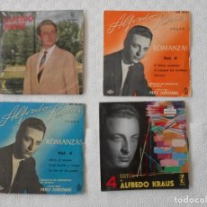 Discos de vinilo: ALFREDO KRAUS. LOTE DE 4 SINGLES DE VINILO CON 14 CANCIONES EN TOTAL.. Lote 231146080