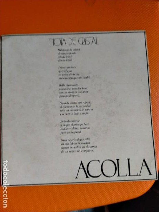 ACOLLA - NOTA DE CRISTAL (SINGLE PROMO ESPAÑOL, KIKOS RECORDS 1992 - SOLO PORTADA) (Música - Discos - Singles Vinilo - Grupos Españoles de los 90 a la actualidad)