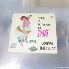 Discos de vinilo: JOHNNY HALLYDAY --- LET´S TWIST DE AGAIN +3--- 1961-- VINILO MINT ( M ) --FUNDA VG++. Lote 231191430