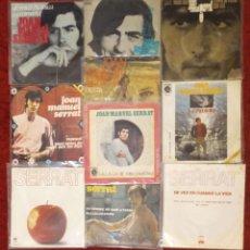 Discos de vinilo: LOTE DE 10 SINGLES DE JOAN MANUEL SERRAT (VER FOTOS). Lote 174519203