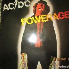 Discos de vinilo: AC / DC - POWERAGE LP - ORIGINAL INGLES - ATLANTIC RECORDS 1978 - A-1 / B-1 MATRICES. Lote 231232525