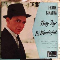 "Disques de vinyle: FRANK SINATRA - THEY SAY IT'S WONDERFUL (7"", EP) (FONTANA) TFE 17255 (UK). Lote 231245725"