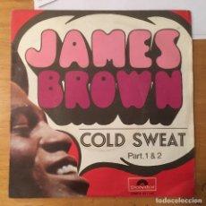 Disques de vinyle: JAMES BROWN. SINGLE. COLD SWEAT. BUEN ESTADO. VER FOTOS. Lote 231250200