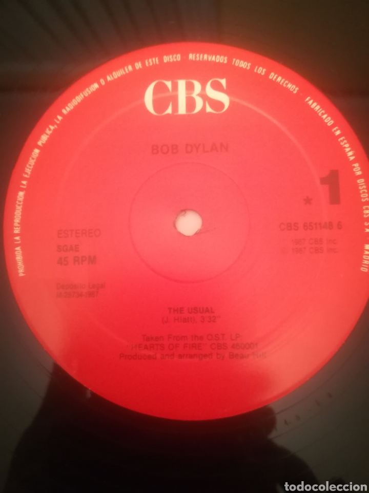 Discos de vinilo: Bob Dylan.The Usual.Got My Mind Made Up.They Killed Him.Maxi Single.CBS 651 148 6 - Foto 4 - 231250745