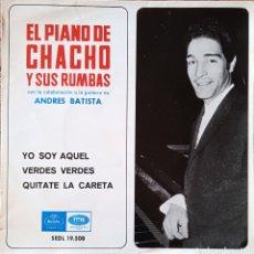Discos de vinilo: EP EL PIANO DE CHACHO Y SUS RUMBAS. Lote 231258805