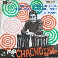 Discos de vinilo: EP EL PIANO DE CHACHO Y SUS RUMBAS. Lote 231259665