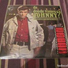 Disques de vinyle: EP JOHNNY HALLYDAY DE DONDE VIENES JOHNNY BSO PHILIPS 432967 SPAIN. Lote 231285940