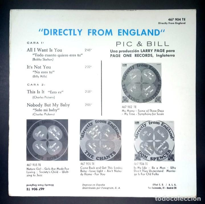Discos de vinilo: PIC & BILL - this is it - EP 1967 - FONTANA - Foto 2 - 231367785