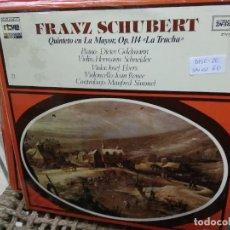 Discos de vinilo: DISCO VINILO FRANZ SCHUBERT Nº 21. SIN USO. DISC-26. Lote 231388860