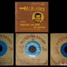 Discos de vinilo: JAZZ. ORQUESTA. RAY MCKINLEY. PLAYS RODGERS AND HART FOR DANCING. [CAJA CON 3 SINGLES].. Lote 231429635