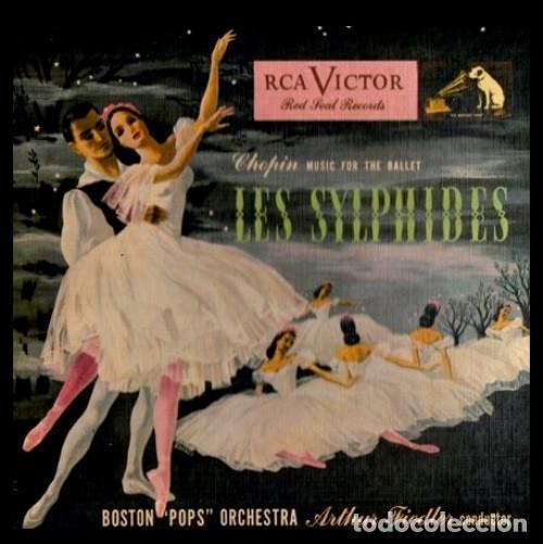 Discos de vinilo: CHOPIN. BALLET. LES SYLPHIDES. BOSTON POPS. ORQUESTA. ARTUR FIEDLER. [CAJA CON 3 SINGLES]. - Foto 2 - 231434880