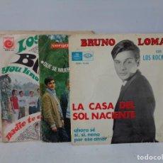 Discos de vinilo: ¡¡ SINGLES : BRUNO LOMAS, LOS BRINCOS, LOS SIREX Y EL FARY. !!. Lote 231461780