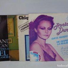 Discos de vinilo: ¡¡ SINGLES : ROCIO DURCAL, ABBA, JUAN CARLOS CALDERON Y ANDY WILLIANS. !!. Lote 231464910