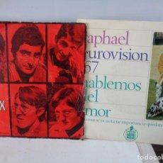 Discos de vinilo: ¡¡ SINGLES : LOS SIREX, LOS MISMOS, KARINA Y RAPHAEL. !!. Lote 231466195
