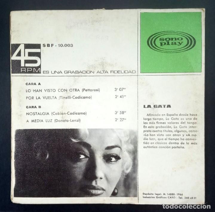 Discos de vinilo: LA GATA - Lo Han Visto Con Otra - EP 1966 - SONOPLAY (gatefold) - Foto 2 - 231499285