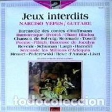Discos de vinilo: NARCISO YEPES – JEUX INTERDITS LABEL: POLYDOR – 2664 332 FORMAT: 2 × VINYL, LP, COMPILATION, STERE. Lote 231503625