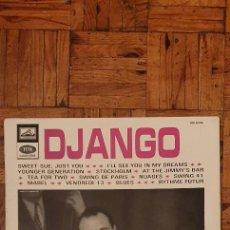 Discos de vinilo: DJANGO REINHARDT – DJANGO LABEL: LA VOIX DE SON MAÎTRE – CHTX 240.124 FORMAT: VINYL, LP. Lote 231515970