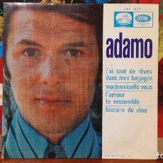 Discos de vinilo: ** ADAMO - J'AI TANT DE RÊVES DANS MES BAGAGES + 3 - EP AÑO 1968 - PROMOCIÓN - LEER DESCRIPCIÓN. Lote 231521610