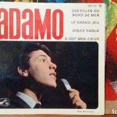 Discos de vinilo: ** ADAMO - LES FILLES DU BORD DE MER + 3 - EP AÑO 1964 - MADE IN FRANCE - LEER DESCRIPCIÓN. Lote 231524130
