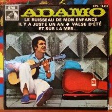 Discos de vinilo: ** ADAMO - LE RUISSEAU DE MON ENFANCE + 3 - EP AÑO 1968 - PROMOCIÓN - LEER DESCRIPCIÓN. Lote 231526885