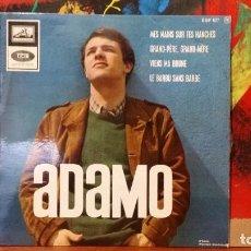 Discos de vinilo: ** ADAMO - MES MAINS SUR TES HANCHES + 3 - EP AÑO 1965 - MADE IN FRANCE - LEER DESCRIPCIÓN. Lote 231527895