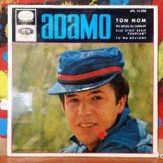 Discos de vinilo: ** ADAMO - TON NOM + 3 - EP AÑO 1966 - PROMOCIÓN - LEER DESCRIPCIÓN. Lote 231528620
