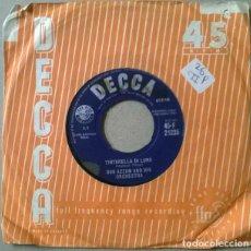 Discos de vinilo: BOB AZZAM. MUSTAPHA/ TINTARELLA DI LUNA. DECCA, UK 1960 SINGLE. Lote 231561365