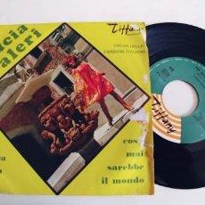 Discos de vinil: LUCIA VALERI-SINGLE PER UN ORA DI PIU. Lote 231563445